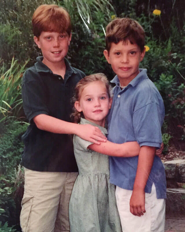 Annie and her brothers