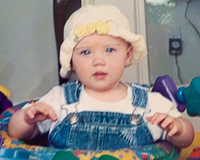 Anna as a baby